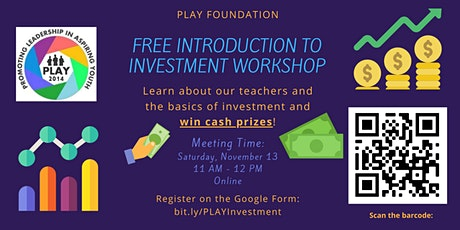 Free Investment Workshop Competition and Prizes tickets