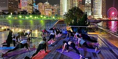 Charity outdoor yoga fundraising for Green peace global warming tickets