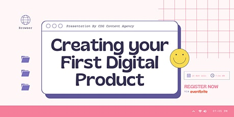 Creating your First Digital Product Workshop tickets