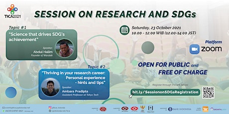 Session on Research & SDGs tickets