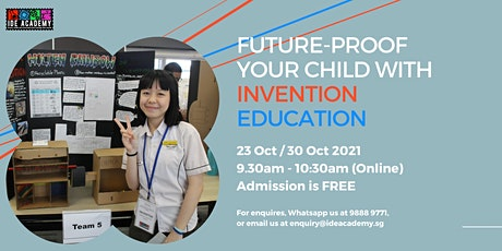 Futureproof your Child with Invention Education: Webinar for Parents tickets