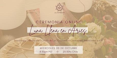 Ceremonia Online de Luna Llena en Aries entradas