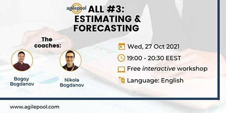 ALL #3:  Estimating & Forecasting - Free Interactive Workshop tickets