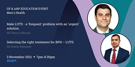 GP & AHP Educational Lecture Via Zoom - Men's Health tickets
