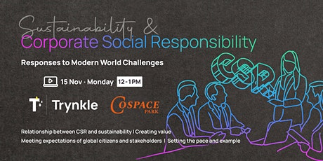 Sustainability and Corporate Social Responsibility tickets