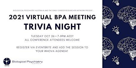2021 BPA  Meeting - Trivia Social Event tickets