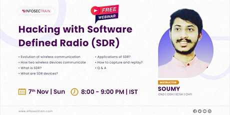 Free Live Webinar for Hacking with Software Defined Radio (SDR) tickets