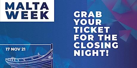 Closing Night Malta Week tickets