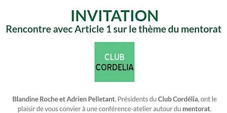 Rencontre Cordélia - Association Article 1 billets