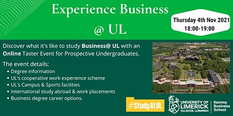 Experience Business @ UL tickets
