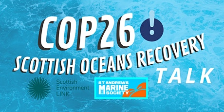 Scottish Environment LINK, The Scottish Oceans Recovery Plan and COP26 tickets
