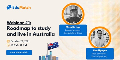 EduMatch - Roadmap to study and live in Australia   Give Away checklist tickets