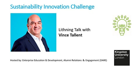 Sustainability Lightning Talk with Vince Tallent  from Tiqmo tickets