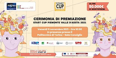 Premiazione Start Cup Piemonte Valle d'Aosta 2021 biglietti