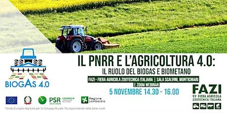 """Convegno """"Il PNRR e l'Agricoltura 4.0: il ruolo del biogas e biometano"""" biglietti"""