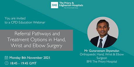 Referral Pathways and Treatment Options in Hand, Wrist and Elbow Surgery tickets