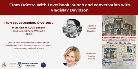 From Odessa With Love: book launch and conversation with Vladislav Davidzon tickets