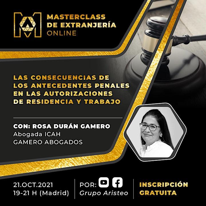 Imagen de Masterclass de Extranjería Online: Antecedentes Penales y Residencia.