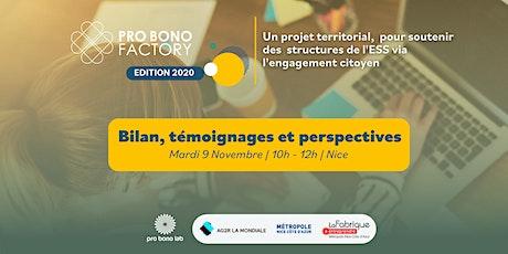 Retour sur la Pro Bono Factory Nice Côte d'Azur billets