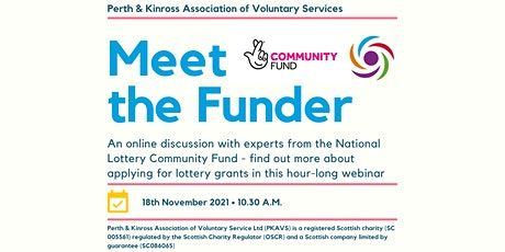 Meet the Funder - National Lottery Community Fund tickets