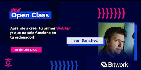 Open Class: Aprende a crear tu primer WebApi entradas