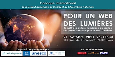 """Colloque international """"Pour un Web des Lumières"""" (présentiel) billets"""