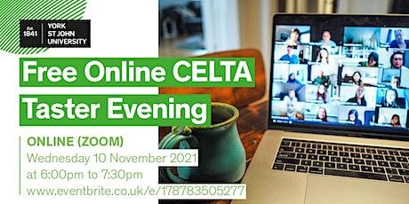 CELTA at York St John University Taster Session 2021 tickets