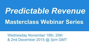 Predictable Revenue Webinar MasterClass Series 2015