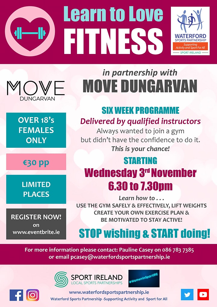 Learn to Love Fitness 3rd November 2021 image
