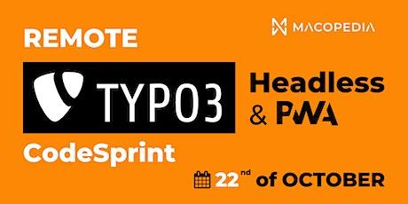 Remote TYPO3 Headless & PWA CodeSprint tickets