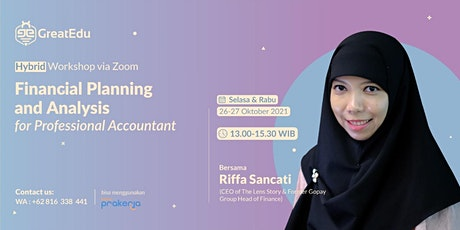 Financial Planning and Analysis for Professional Accountant tickets