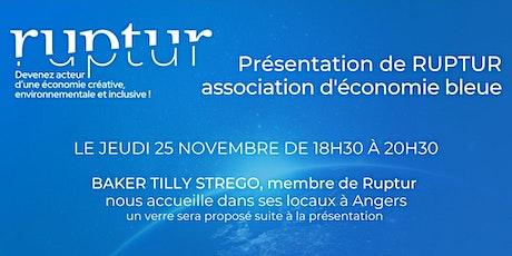 Présentation de Ruptur, association d'économie bleue billets