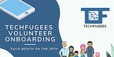 Techfugees Volunteers Onboarding tickets