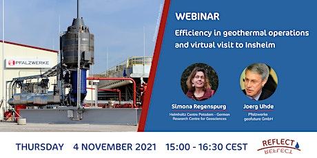 Webinar: Efficiency in geothermal operations and virtual visit to Insheim bilhetes