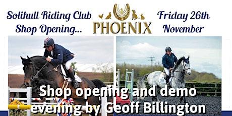 Solihull shop opening & Geoff Billington demo tickets