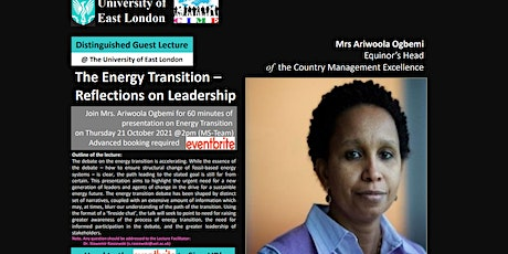 The Energy Transition – Reflections on Leadership tickets