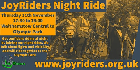 Night Ride (Intermediate) from Walthamstow Central to Olympic Park tickets