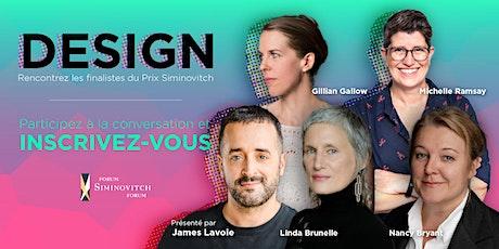 Forum Siminovitch sur le design biglietti