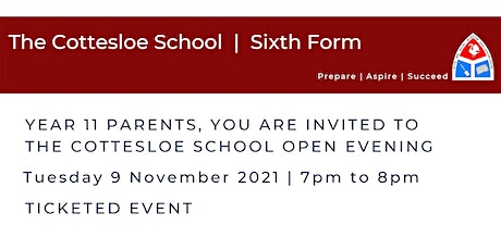 The Cottesloe School Sixth Form -  Open Evening | 9 November 7pm to 8pm tickets