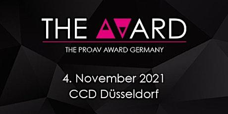 The AVard 2021 - Preisverleihung mit Galadinner Tickets