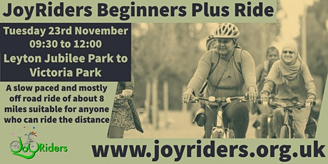 Beginners Plus  Ride Leyton Jubilee to Victoria Park tickets