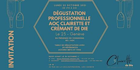 Dégustation professionnelle - AOP Clairette et Crémant de Die billets
