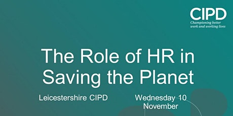 The Role of HR in Saving the Planet tickets