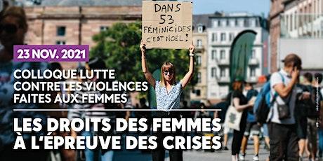 Colloque 23 nov : Les droits des femmes à l'épreuve des crises billets