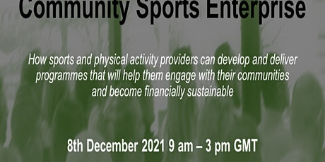 How to become a viable Community Sports Enterprise tickets