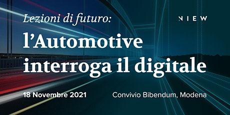 """""""Lezioni di futuro: l'Automotive interroga il digitale"""" biglietti"""