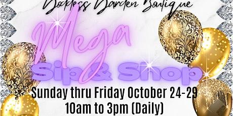 Mega Sip & Shop tickets