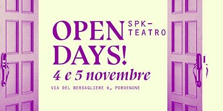 SpkTeatro - OPEN DAYS - Presentazione percorsi SCRITTURA (online) biglietti