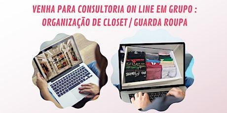 Consultoria on line de organização closet / guarda roupa ingressos