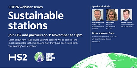 HS2 and COP26: Sustainable stations tickets